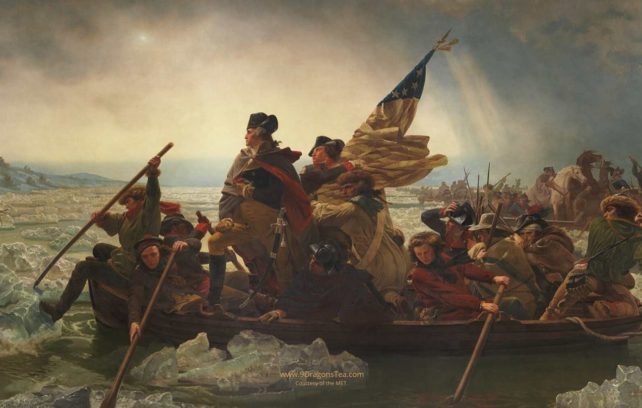 How Tea Came to America historical painting american revolution and revolutionary wa george washington crossing the delaware river source The MET