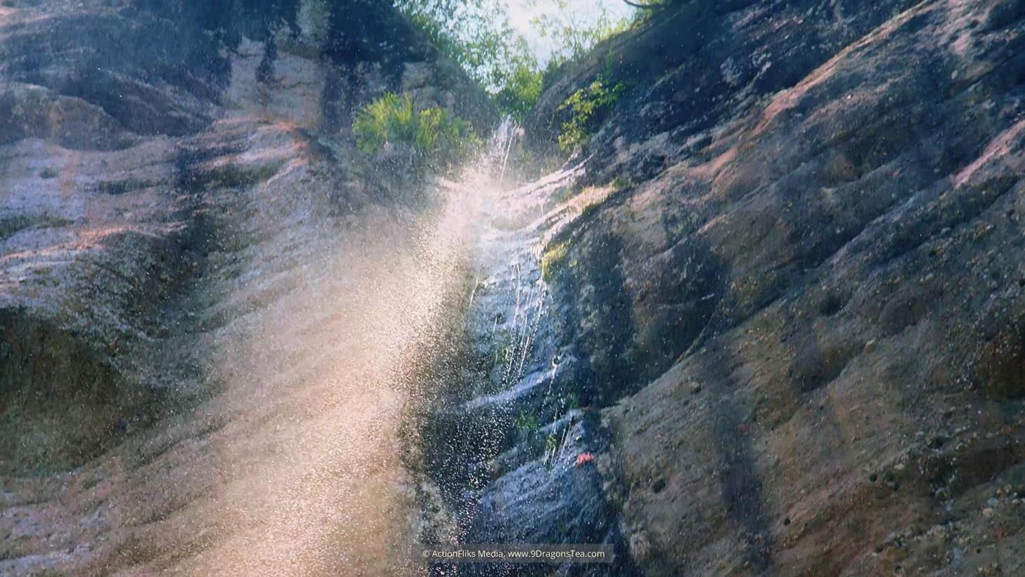 Wuyishan landscape waterfall dragon pond cave tall mountain upshot