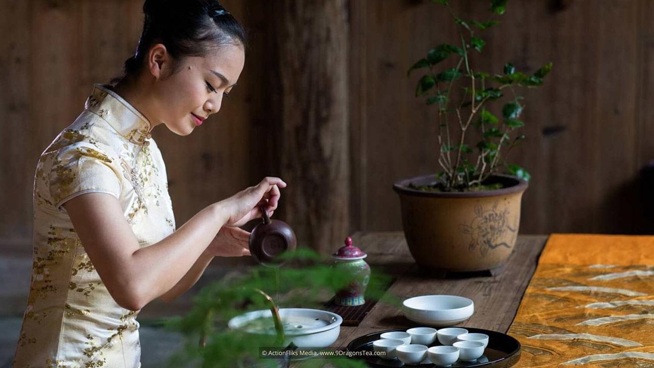 chinese tea rituals gong fu cha ceremony girl preparing tea