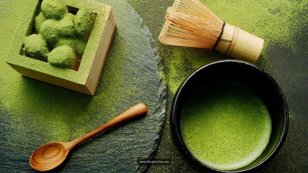 Origin of Matcha How Tea Came To Japan matcha green tea with bamboo whisk