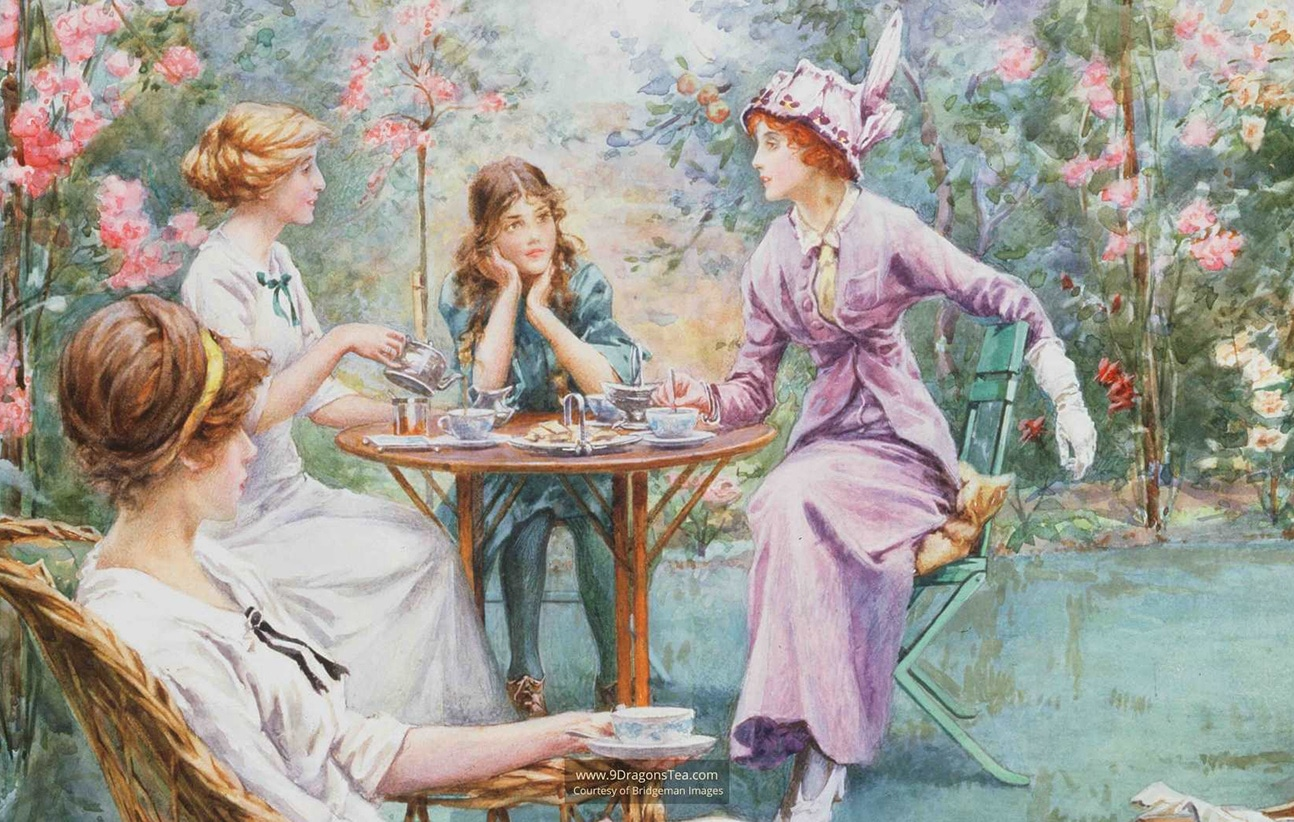 how tea came to england british culture english ladies tea in garden afternoon tea