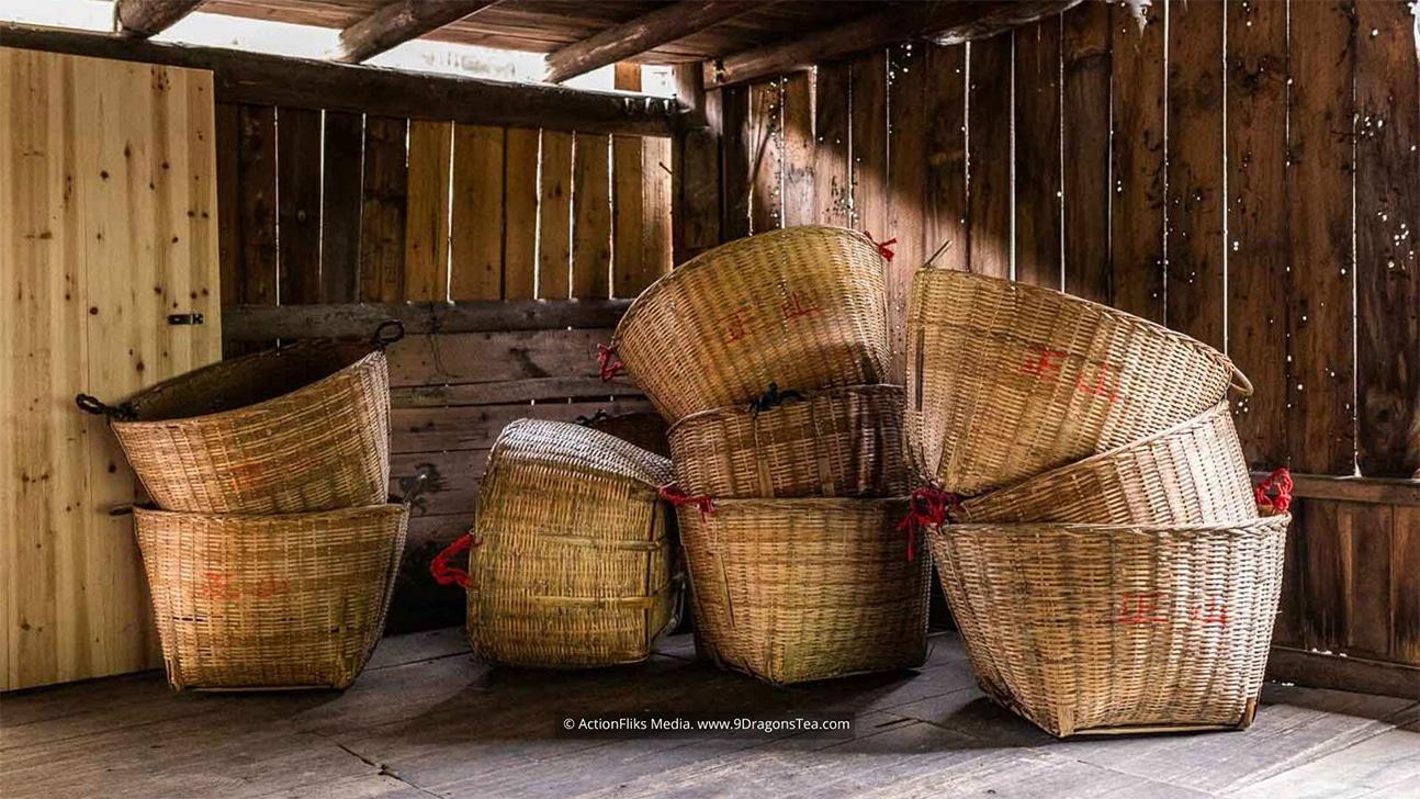 traditional chinese tea making Bamboo Baskets