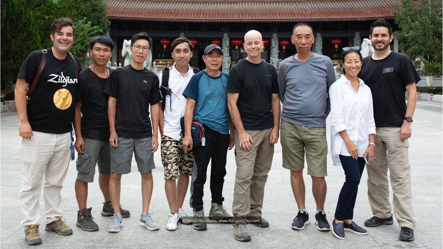 behind the scenes wuyishan filming crew mother temple
