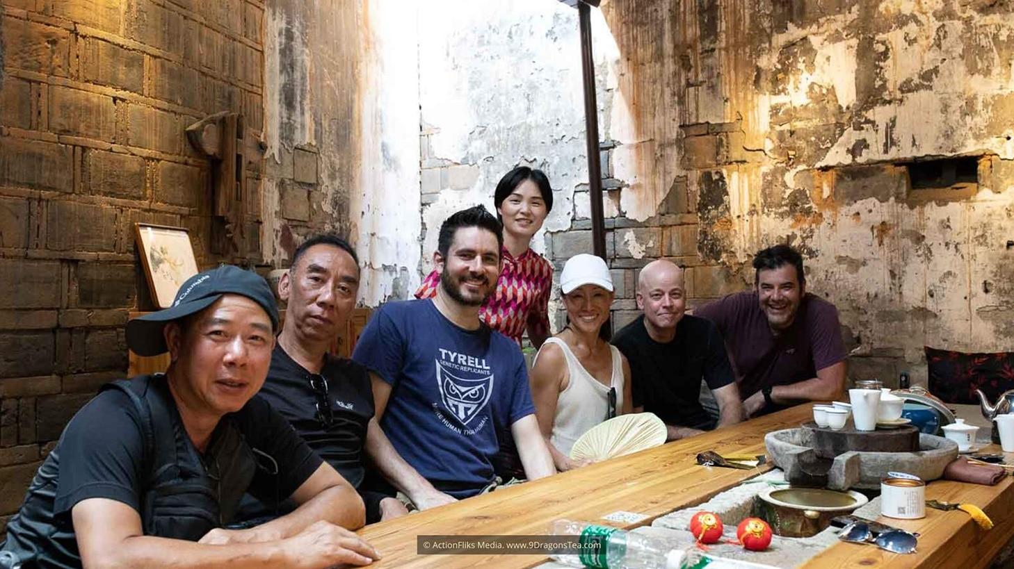 behind the scenes wuyishan tea tasting filmmaker christy hui film crew