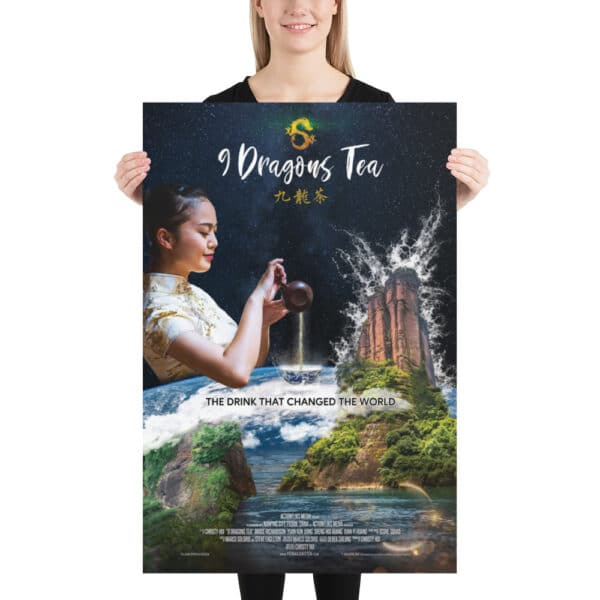 9 dragons tea official movie poster with model