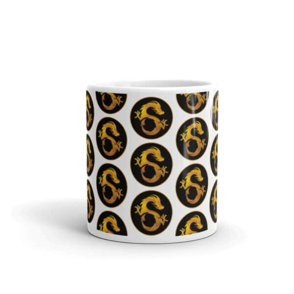 9 dragons mug front view