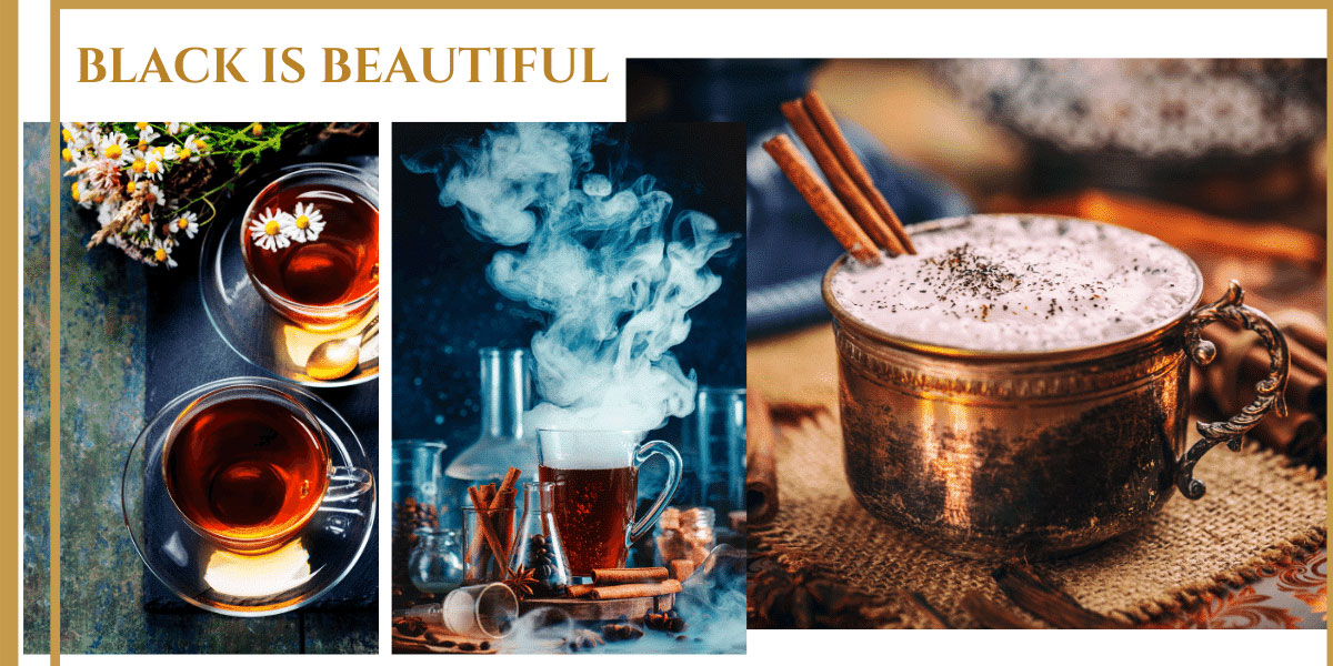 9 dragons tea-black tea latte