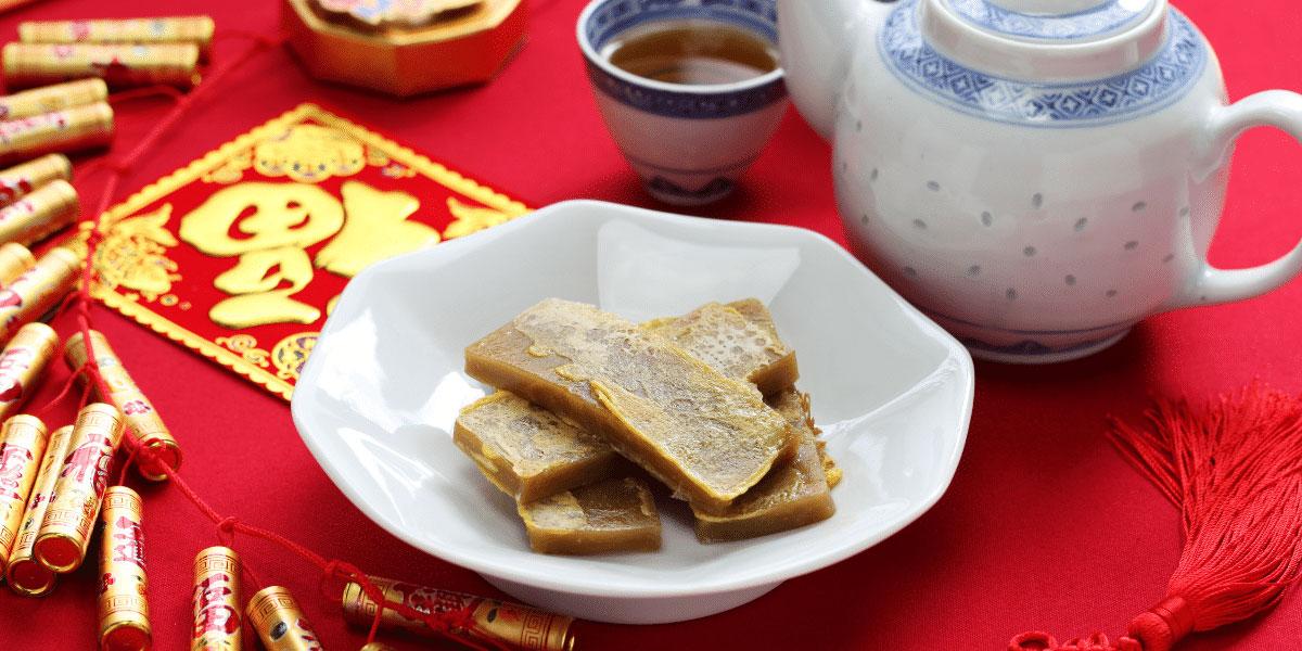 9 dragons tea-CNY-Nian Gao Sweet Rice Cake