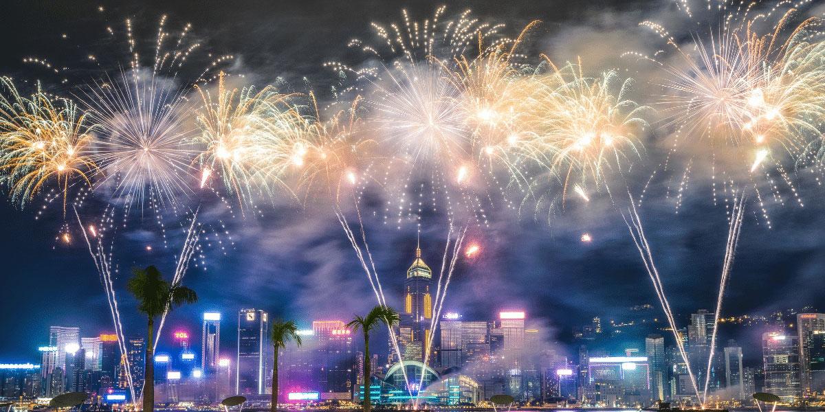 9 dragons tea -cny-fireworks in hong kong