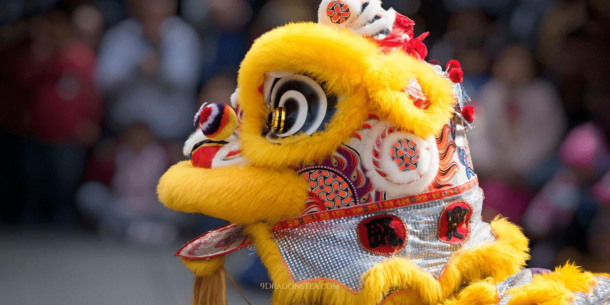 9 dragons tea-cny-lion dance