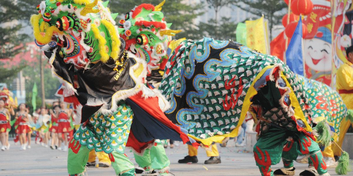 9 dragons tea lunar new year lion dance san Francisco