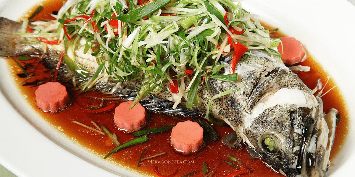 9 dragons tea - cny - steamed fish