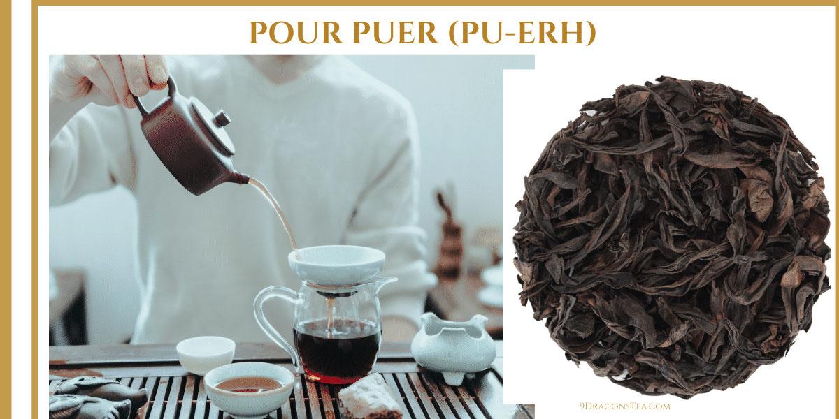9 dragons tea-puer tea pu-erh tea-tea cake