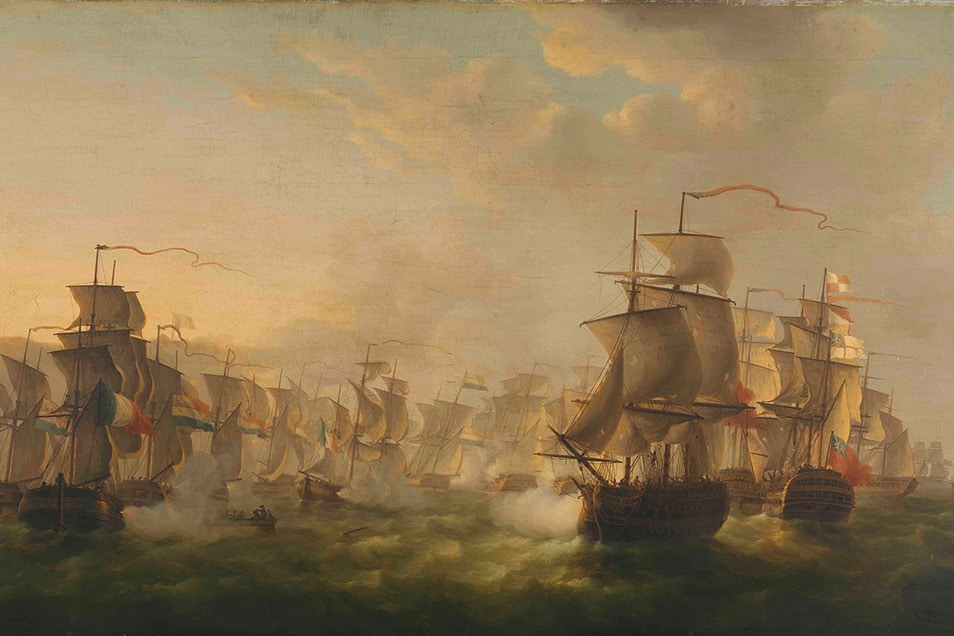ActionFliks 9 Dragons Tea How Tea Came To Europe Signature Dutch Ships Rijiks Clash of the Dutch and British Fleets c1804 web