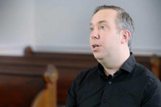 Evan Obrien onset interview headshot boston tea museum