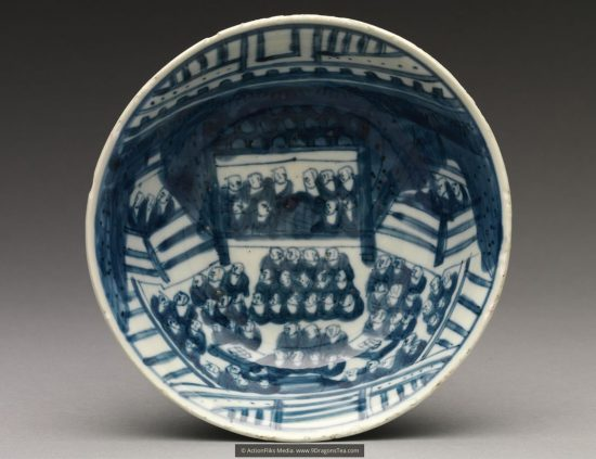 chinese tea history How Tea Came to Japan historical image 100 buddhist monks assembly tang dynasty